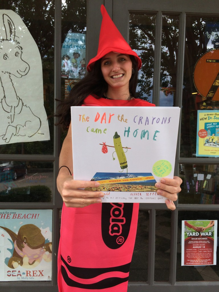 Pssst. Drew Daywalt (author of The Day the Crayons Came Home) will be at Lemuria on September 15 at 3:30!