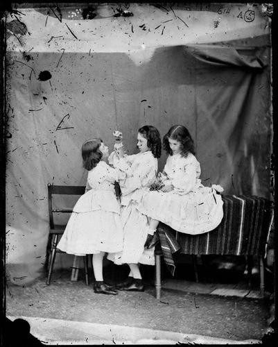 by Lewis Carroll (Charles Lutwidge Dodgson), wet collodion glass plate negative, July 1860